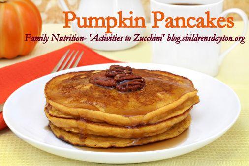 Pumpkin pancake recipes from 'Activities to Zucchini' blog