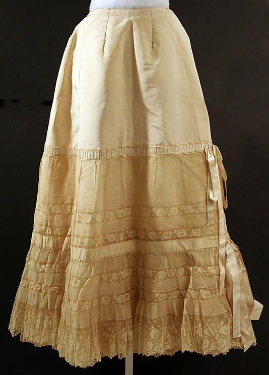 Late 19th C. Silk Petticoat