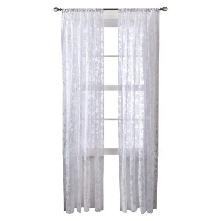 Threshold™ Botanical Burnout Sheer Curtain Panel : Target