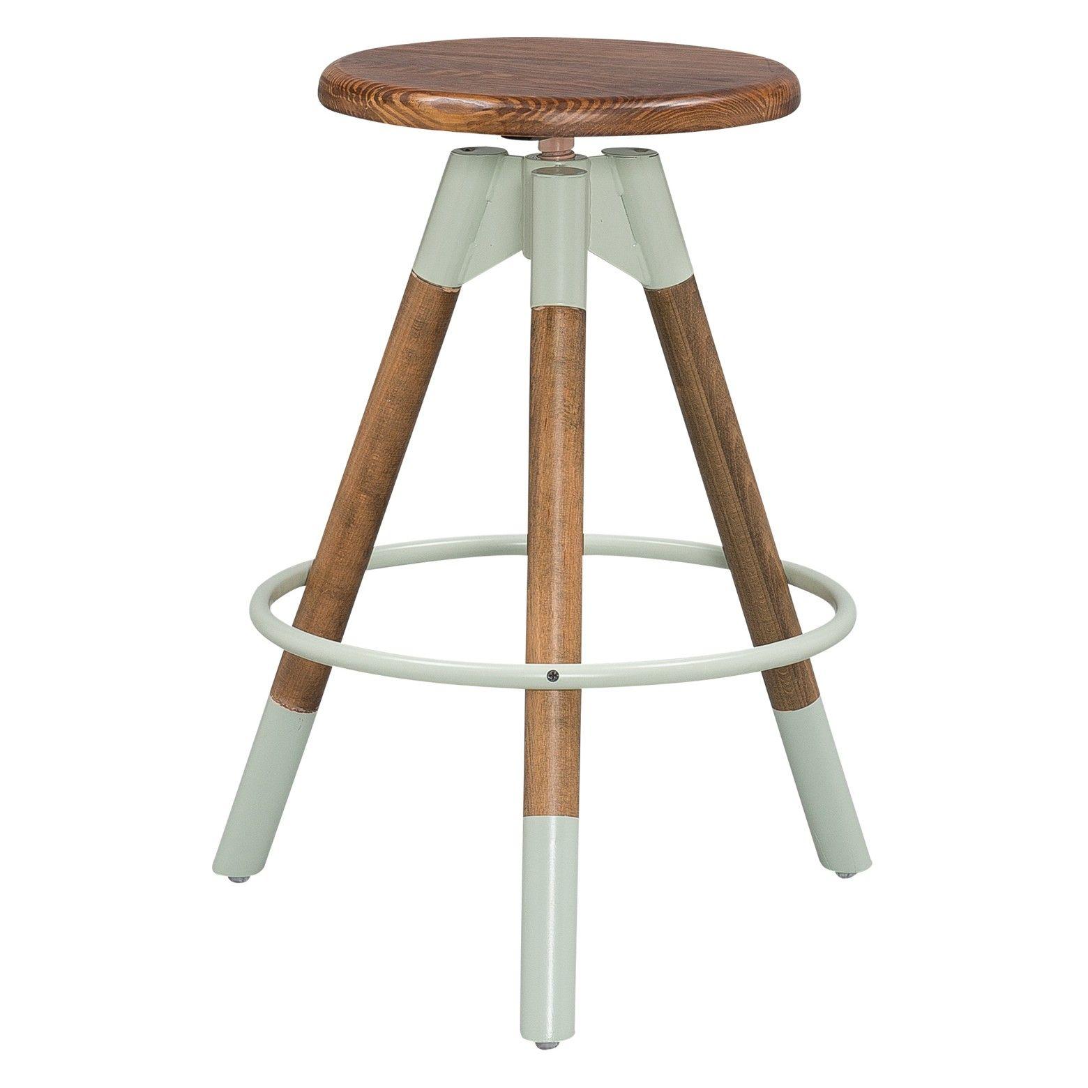 Adjustable Wood Stool - Dipped Legs (Set of 2) - Sage & Pine ...