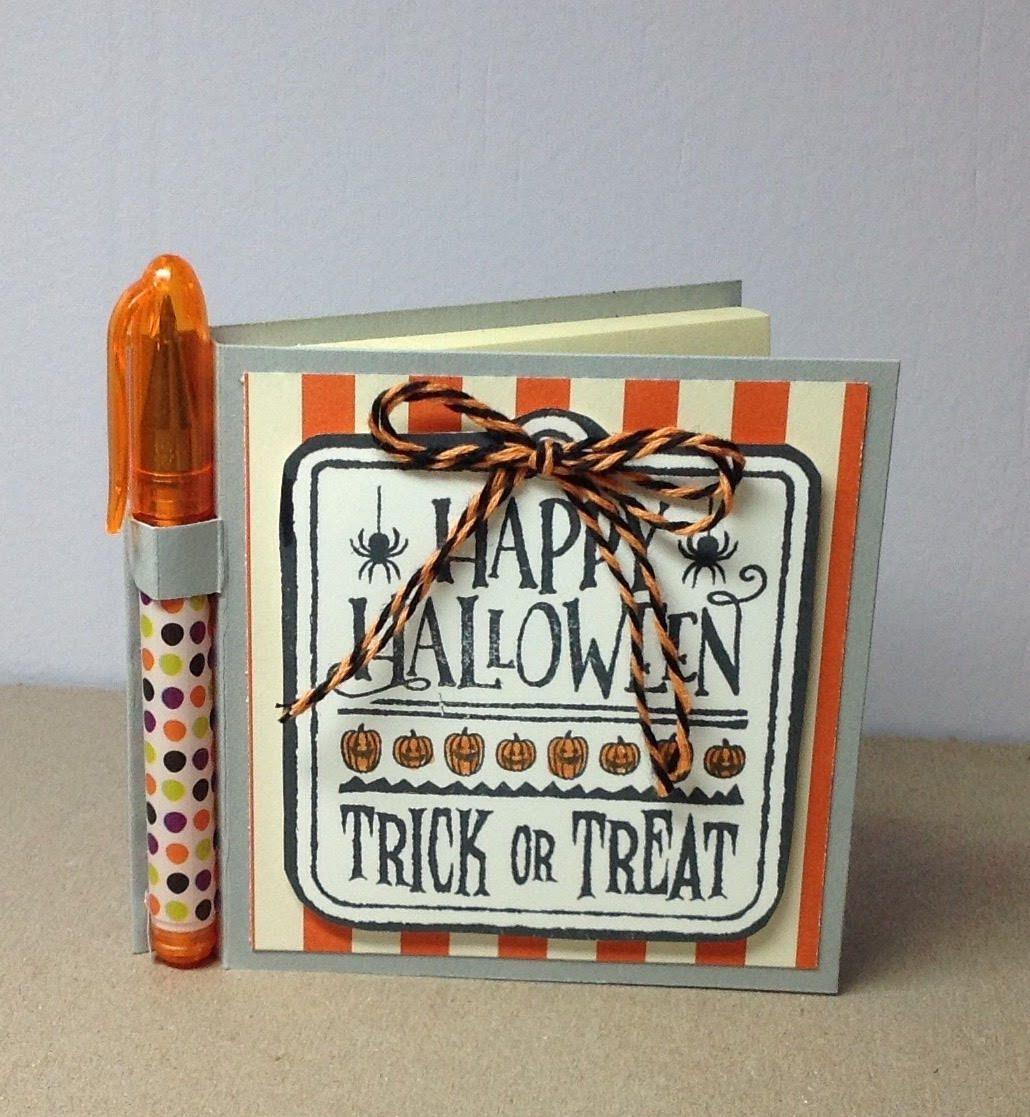 Happy Halloween Postit Notepad with Mini Pen Postit