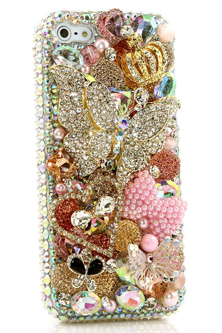 Cute iphone 5 5s 5c bling case diamond diva design for