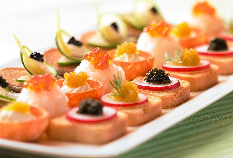 Caviar apps by seedling sage catering www for Wedding canape alternatives
