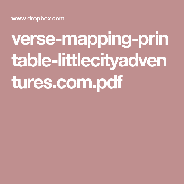 verse-mapping-printable-littlecityadventures com pdf | FAITH LIBRARY