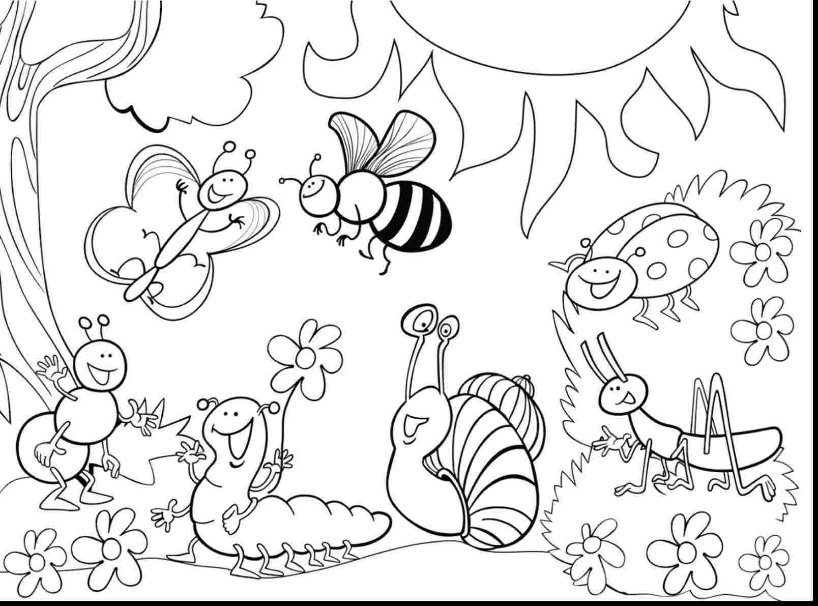 Coloring Pages Of Bugs And Insects Dieren Kleurplaten Kleurplaten Mandala