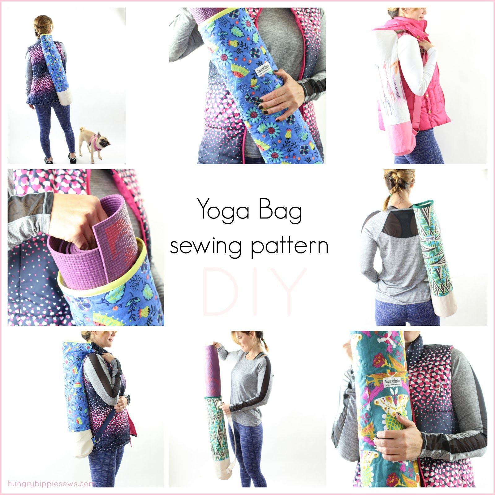 Ananda Yoga Bag Sewing pattern tutorial and PDF | Costura ...