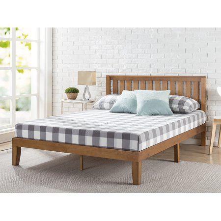 Zinus Alexia 12 Inch Wood Platform Bed With Headboard Rustic Pine