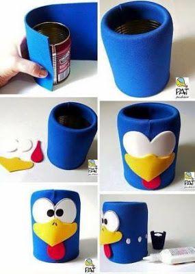 10 ideas para crear dulceros con latas de aluminio - Mesas infantiles de plastico ...