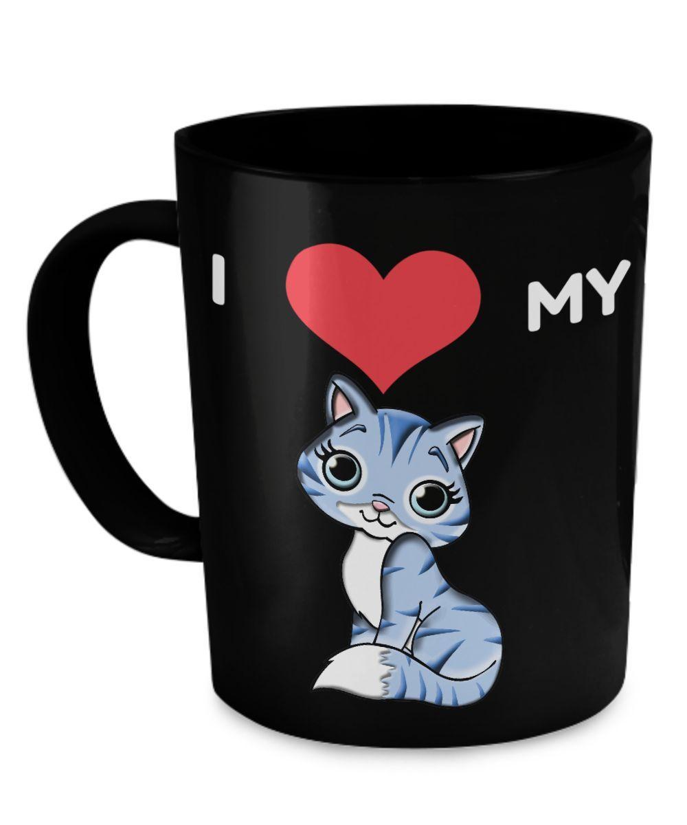 I Love My Cat - Cute Mug mam12