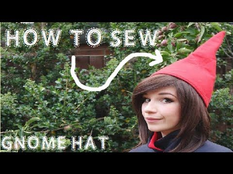 The final part of my first video tutorial of how to sew Wirt's hat from over the garden wall (Or just a gnome hat) . Great for Halloween, Cosplay or costume ... #gnomecostume