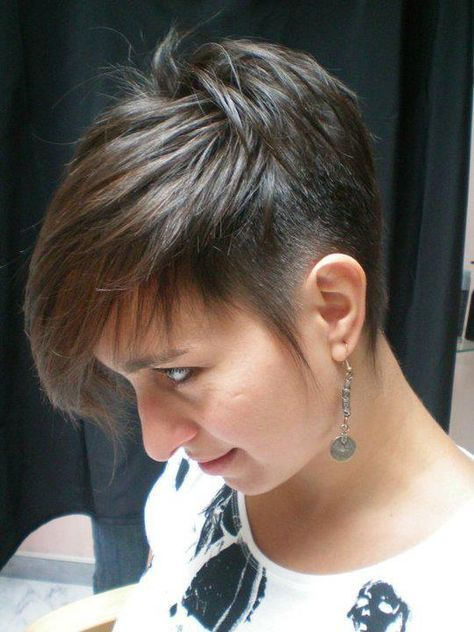 Cool Spiky Pixie Hairstyle With Undercut For Women Hair Styles