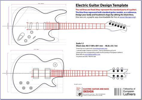 An editable blueprint of a les paul and a stratocaster will serve an editable blueprint of a les paul and a stratocaster will serve you as a reference malvernweather Image collections