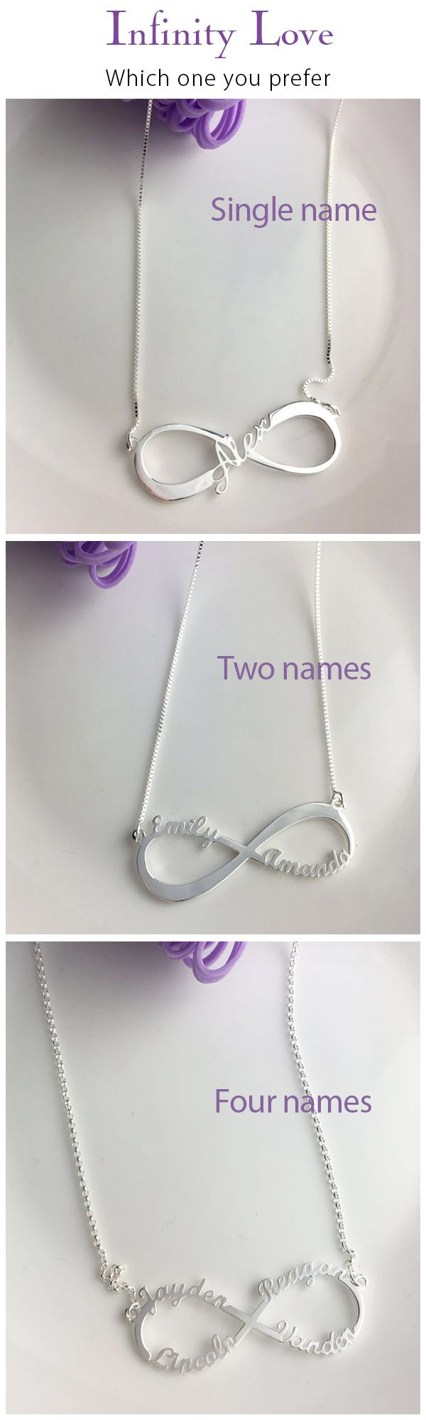 d93edfca972df Personalized Infinity Symbol Necklace Double Name | Jewelry ...