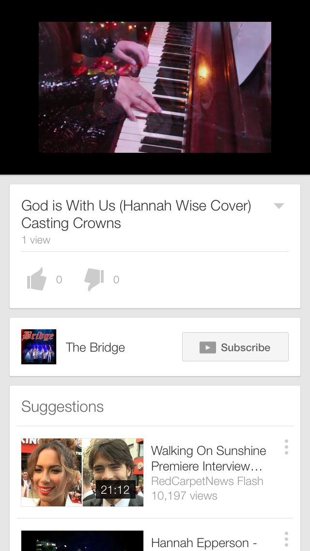 http://youtu.be/r4YVgvMgtN0 God is With Us (Hannah Wise Cover) Casting Crowns