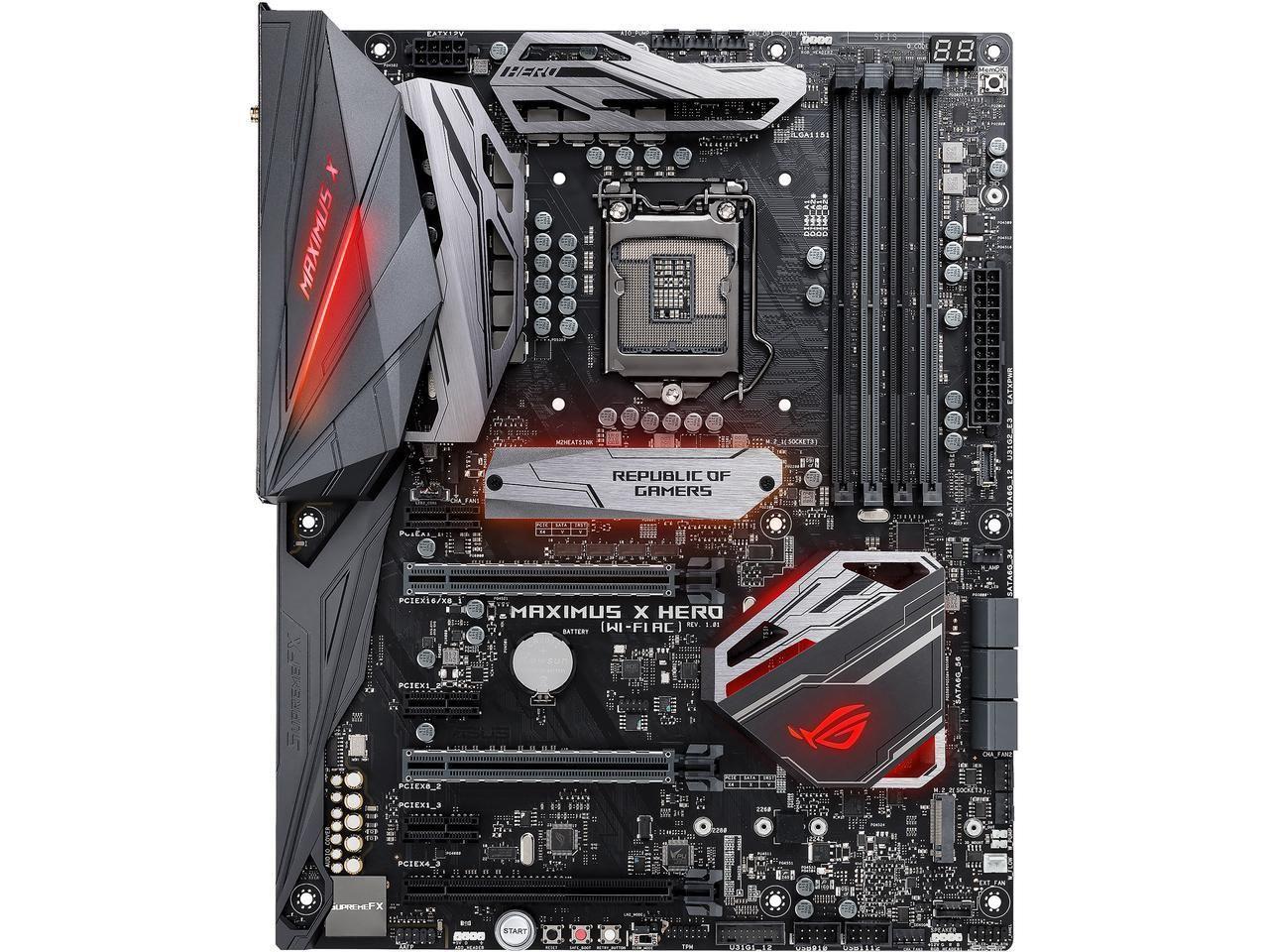 Asus Rog Maximus X Hero Wi Fi Ac Lga 1151 300 Series Intel
