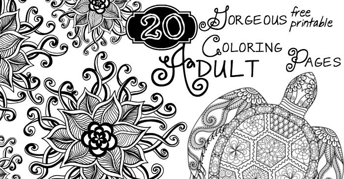 I pulled together these 20 Gorgeous Free Printable Adult Coloring ...