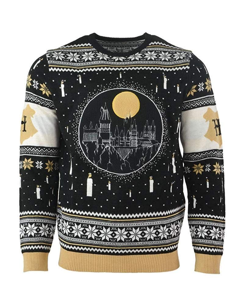 Amazoncom Harry Potter Ugly Christmas Sweater Hogwarts Castle