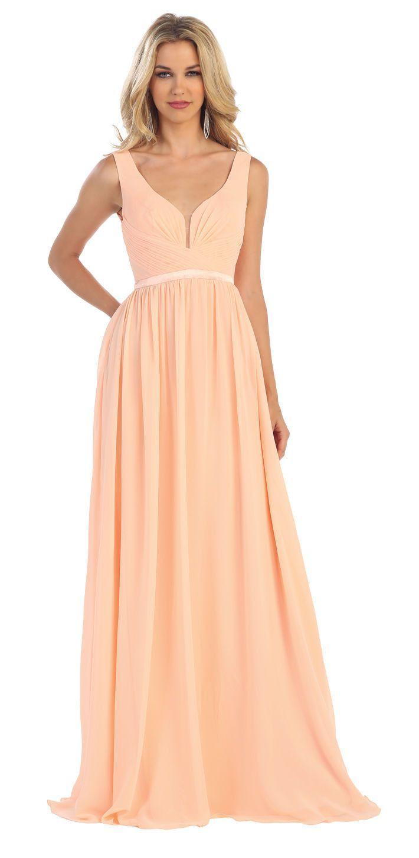 Long bridesmaids formal dress weddings pinterest dress