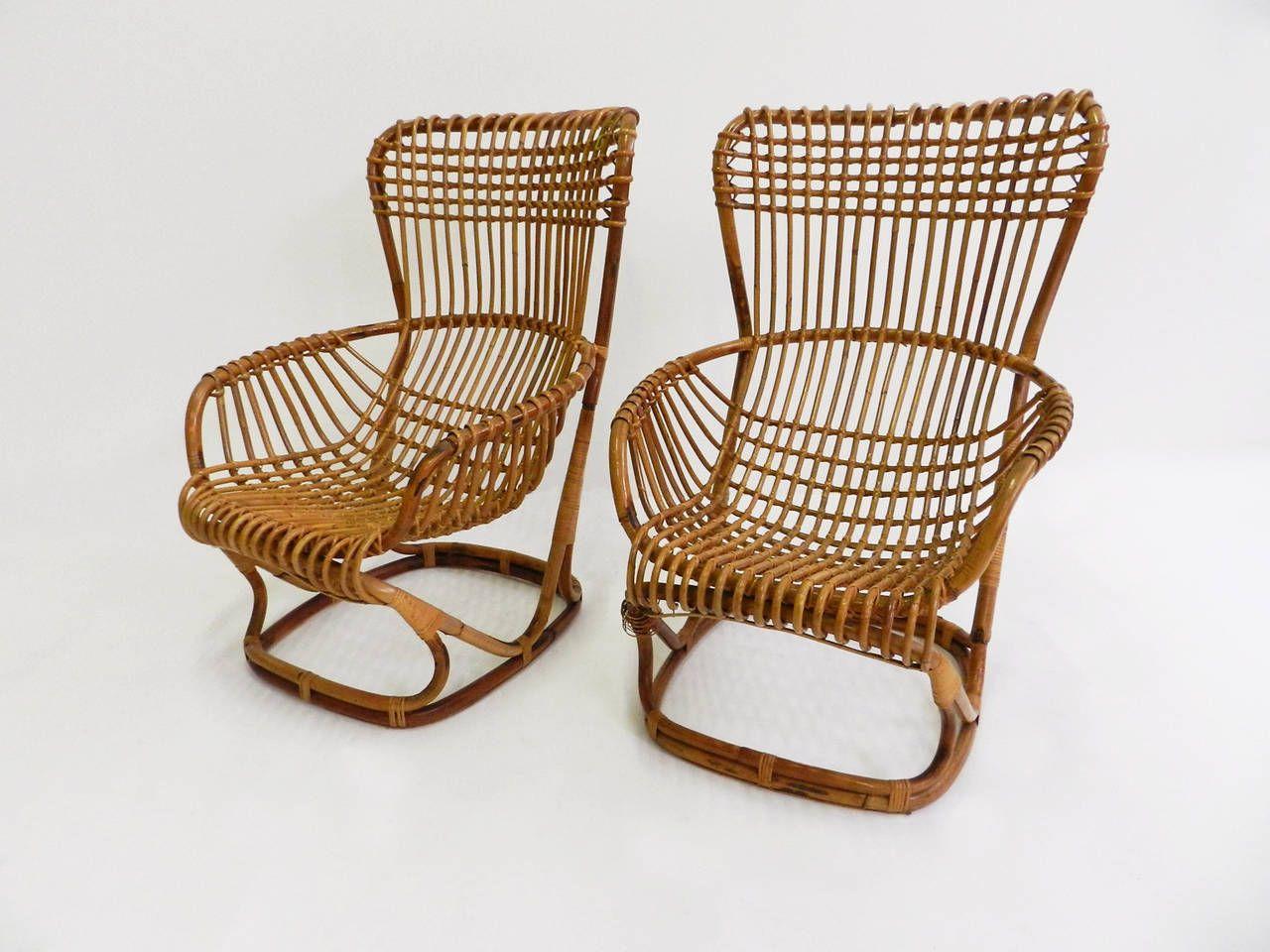 Bonacina Mobili ~ Two italian garden armchairs by tito agnoli for bonacina italian