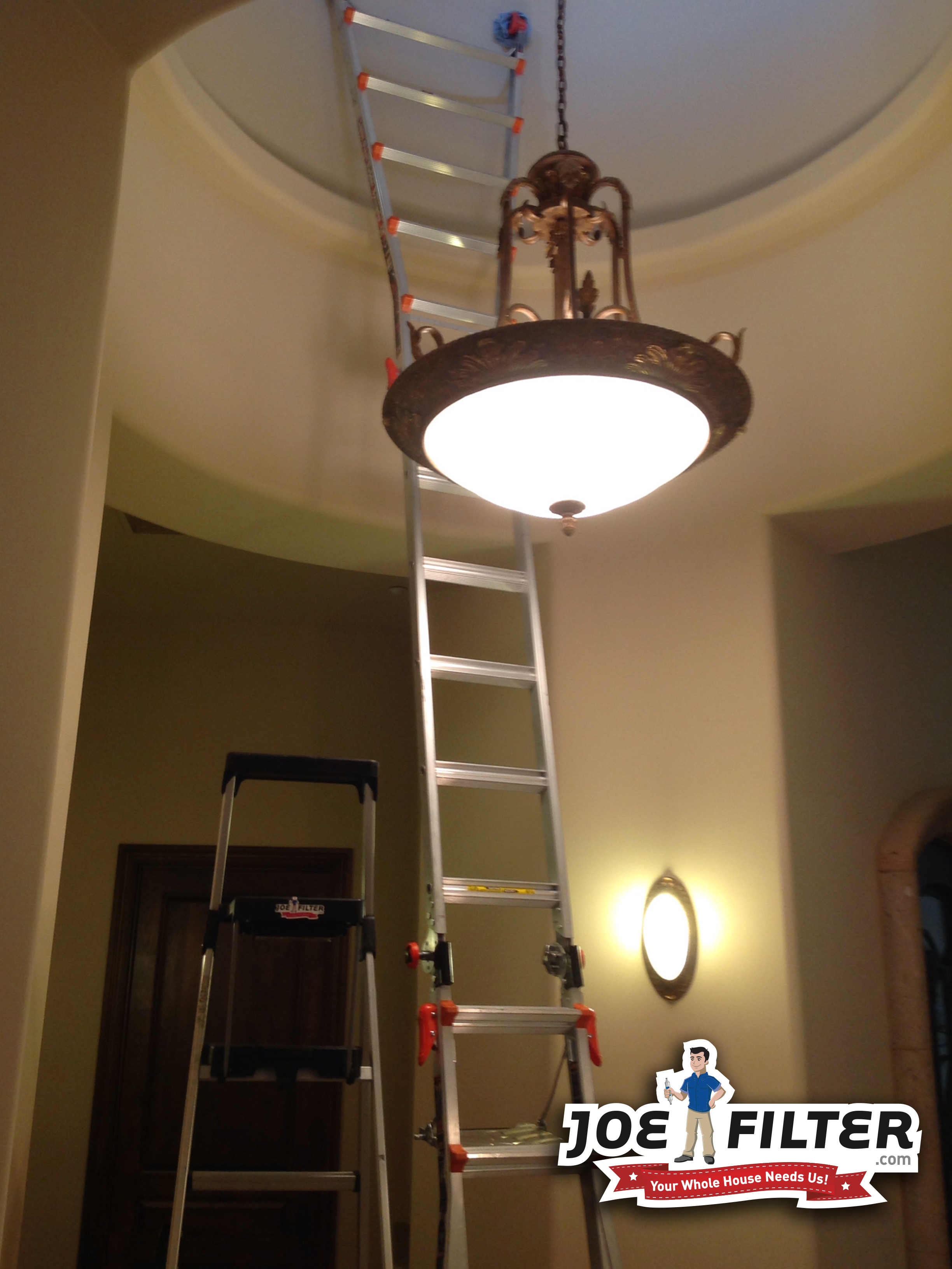 Worried About Getting On A High Ladder To Change A Light Or Smoke Alarm Don T Sweat It Just Call Joe Filter To Come Do It 480 Home Hacks Smoke Alarms Light