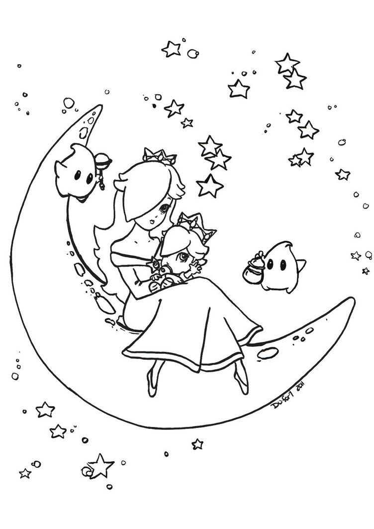 Permission To Color It Granted With A Link To The Original Lineart Of Course Daisy Ref To See More Lin Mario Coloring Pages Coloring Pages Coloring Books