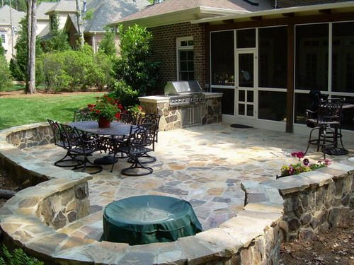 Lovely Patio And Deck Designs | ... Of Getting Stone Patio Designs In Your Gardens