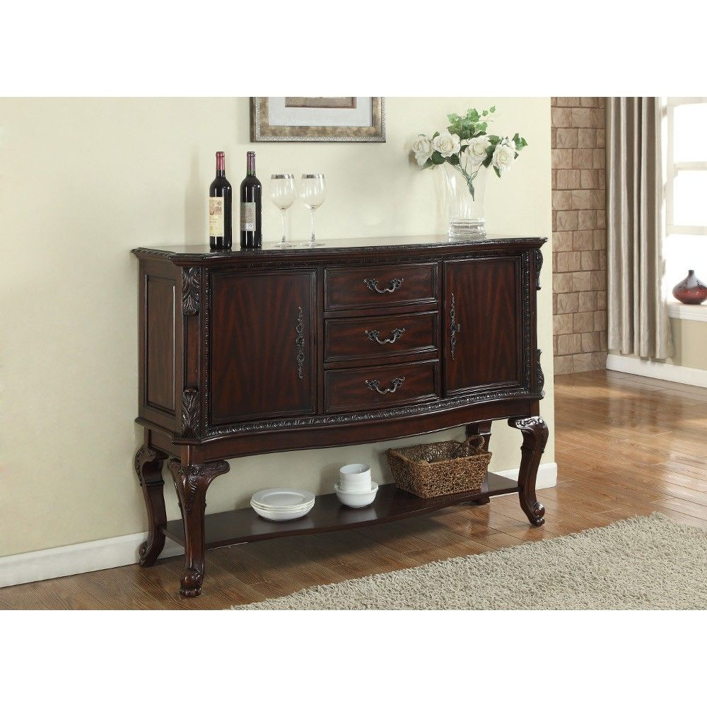 "Kiera Side Board $59900 2150Sb 60"" X 18"" X 42"" H  Formal Dining Fascinating Dining Room With Sideboard Design Inspiration"
