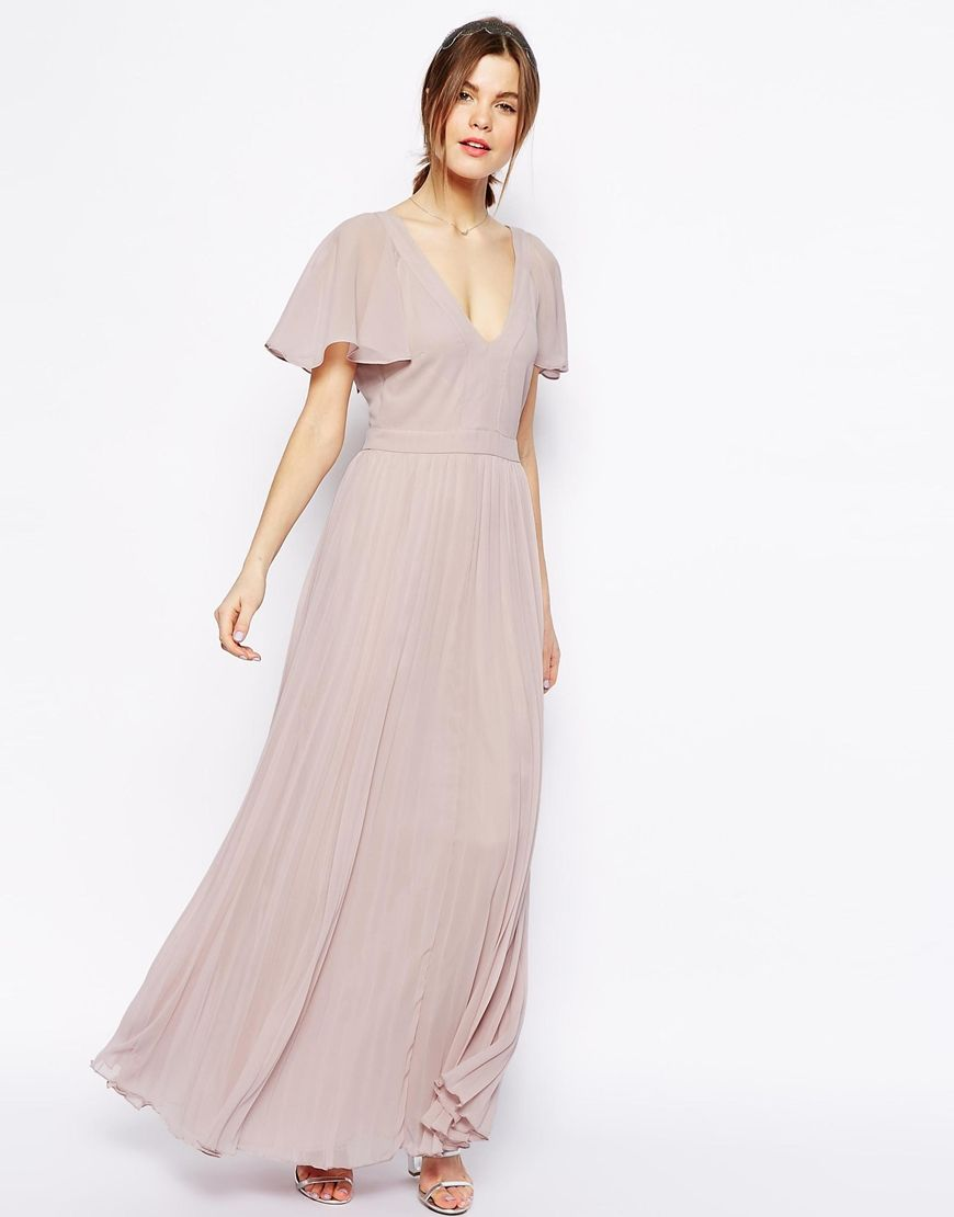 650b4110ac1 Enlarge ASOS Ruffle Sleeve Pleated Maxi Dress
