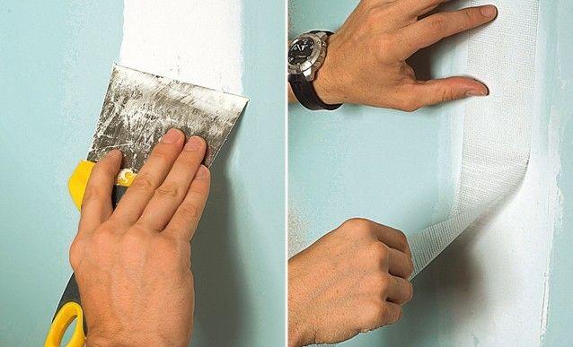 reboucher une fissure sur une plaque de plâtre | plaque de platre