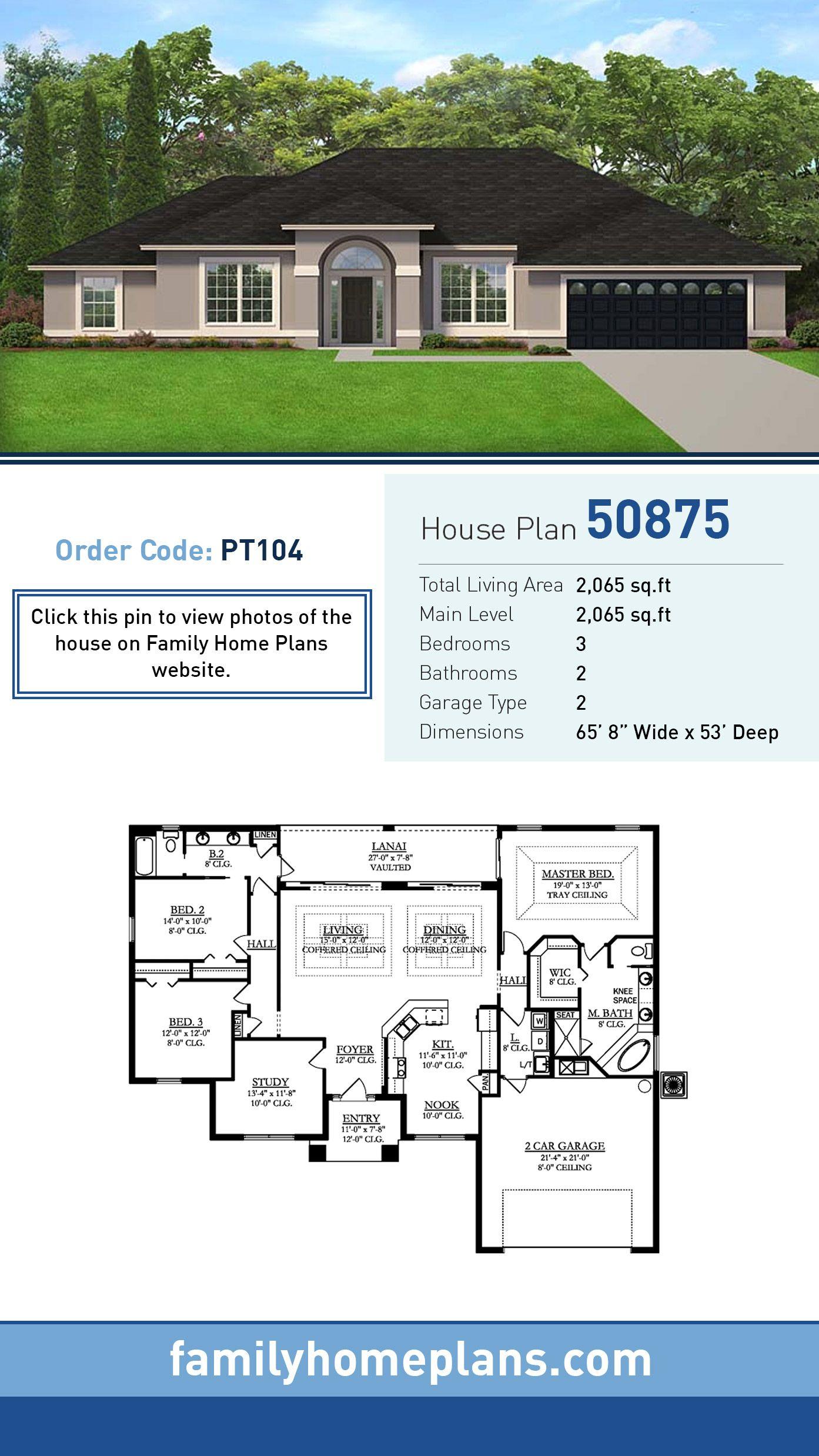 Plan 50875 Florida House Plans Family House Plans Beautiful House Plans