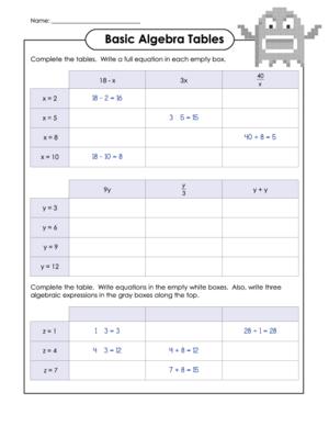 Algebra Archives Kidspressmagazine Com Basic Algebra Algebra Algebraic Expressions