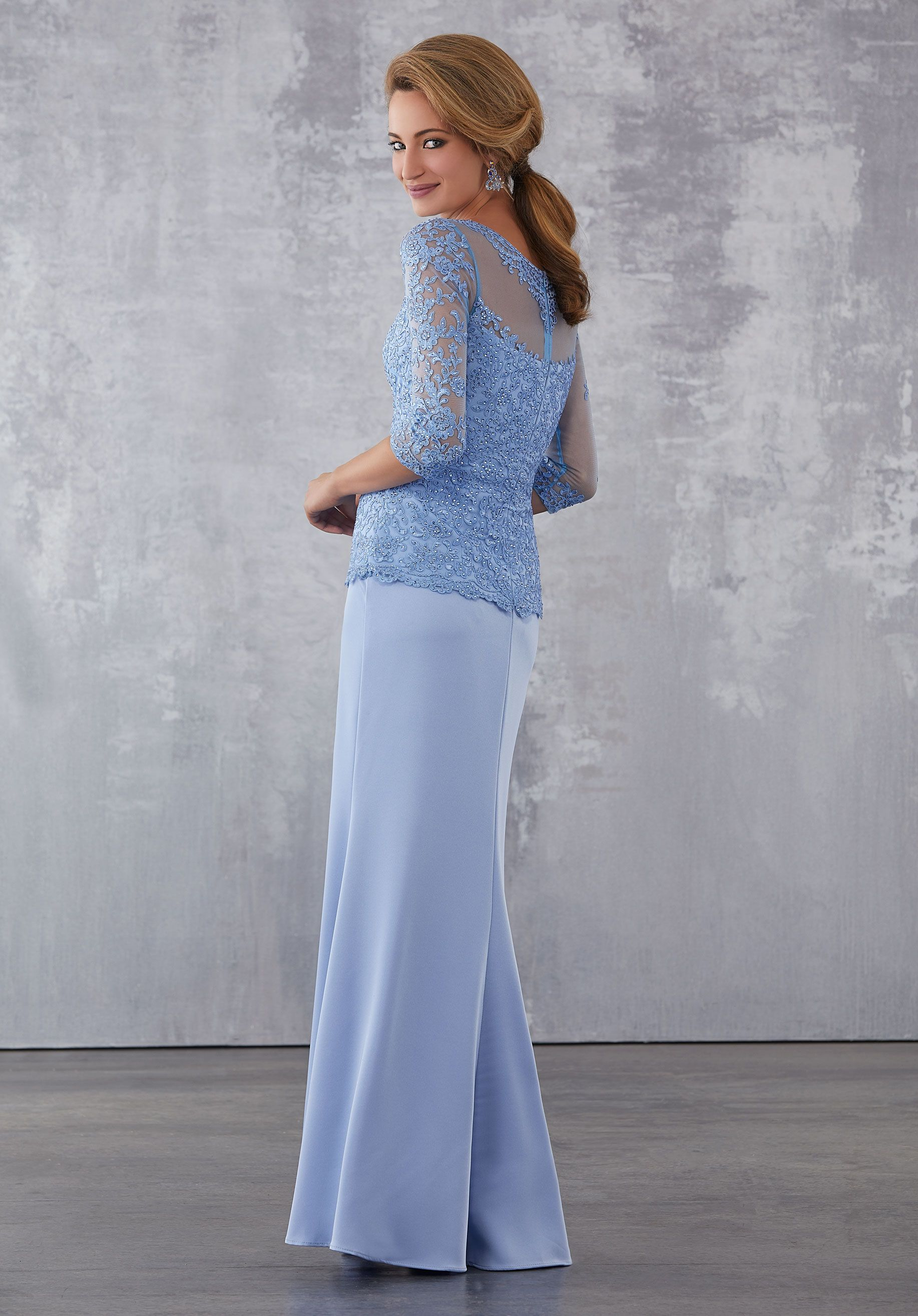 Mori lee motherus dresses style number beaded lace on silky