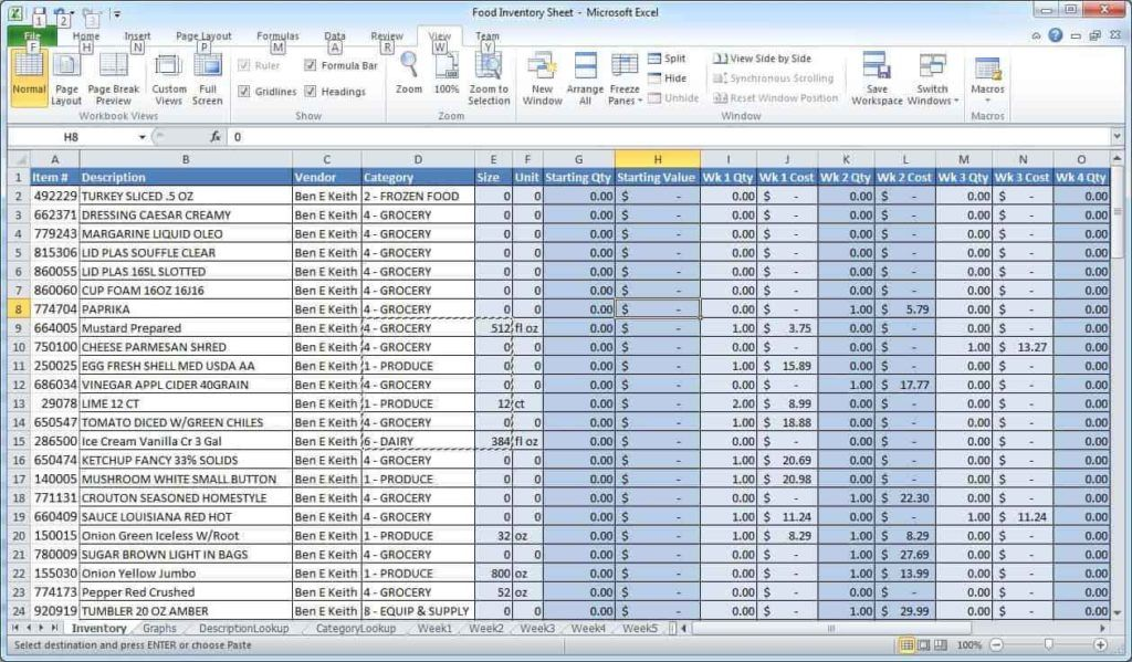 Sample Excel Spreadsheet For Data And