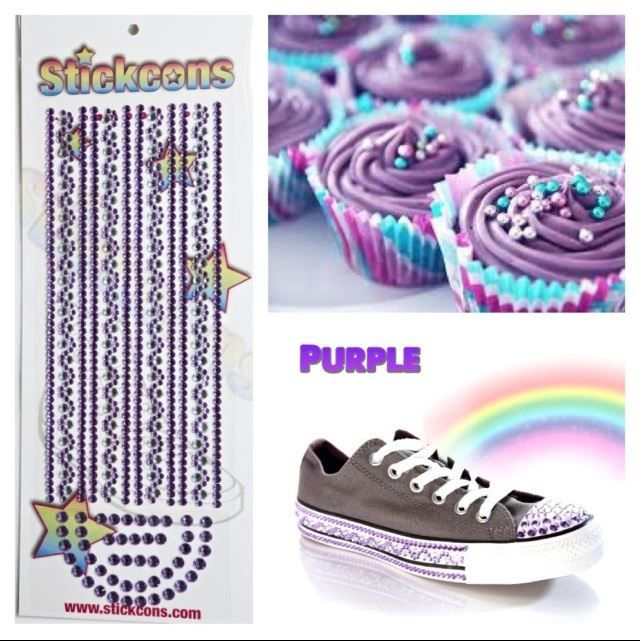 1790e0bd8eea90 PURPLE Stickcons Kits! www.stickcons.com DIY Bling for your Converse ...