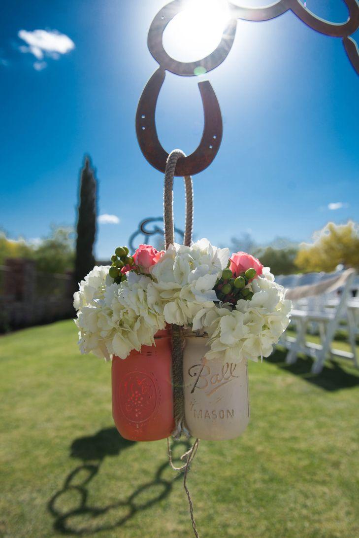 Horseshoe Shephard Hooks For Hanging Aisle Florals Amanda Marie Photography Firerock Country Club Nonny S Eve Horseshoe Decor Western Wedding Aisle Decor