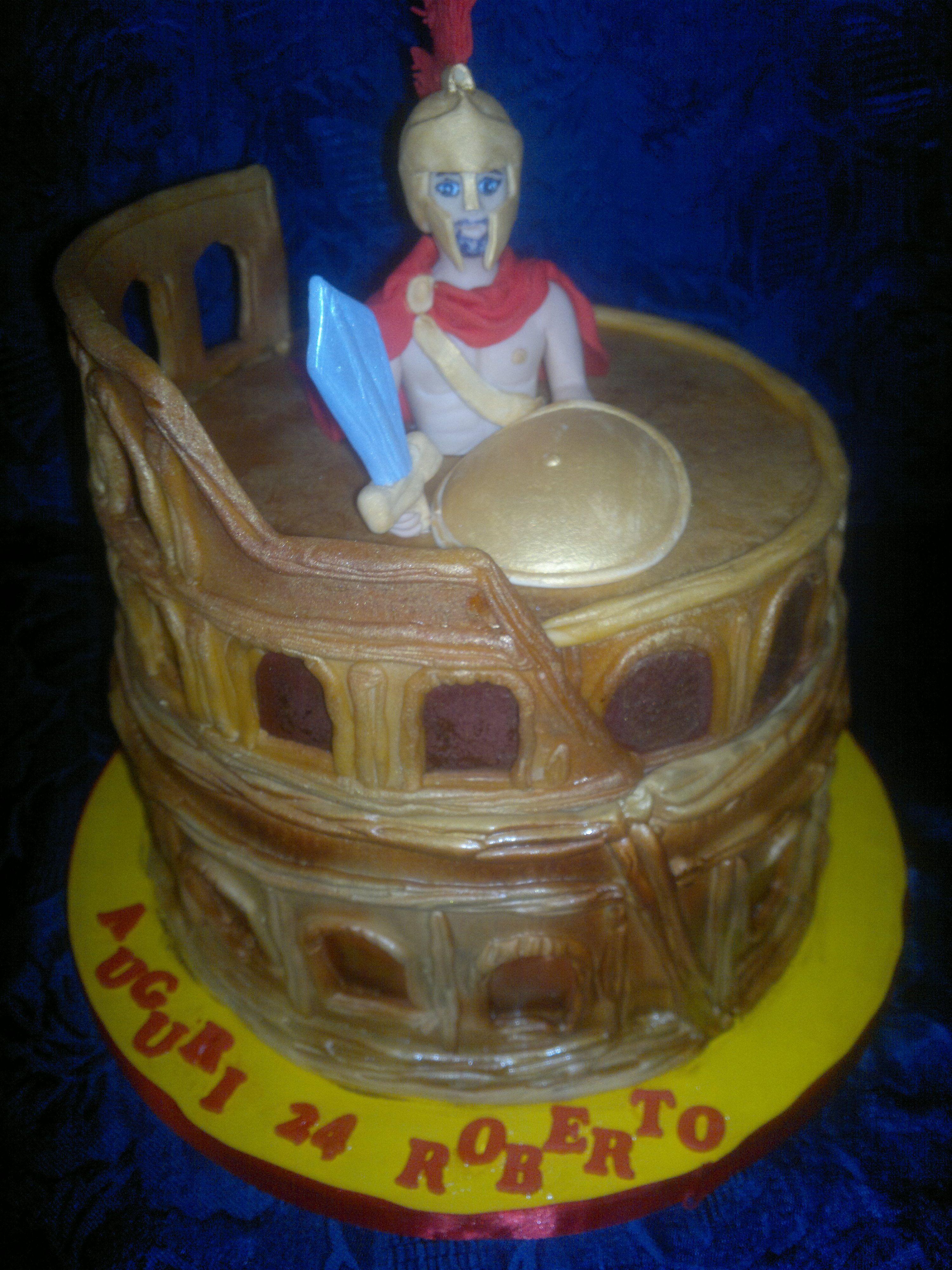 cake roma gladiatore