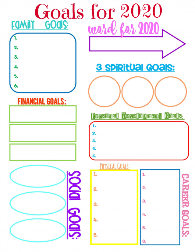 Second Chance To Dream - 2020 Goal Setting Printable