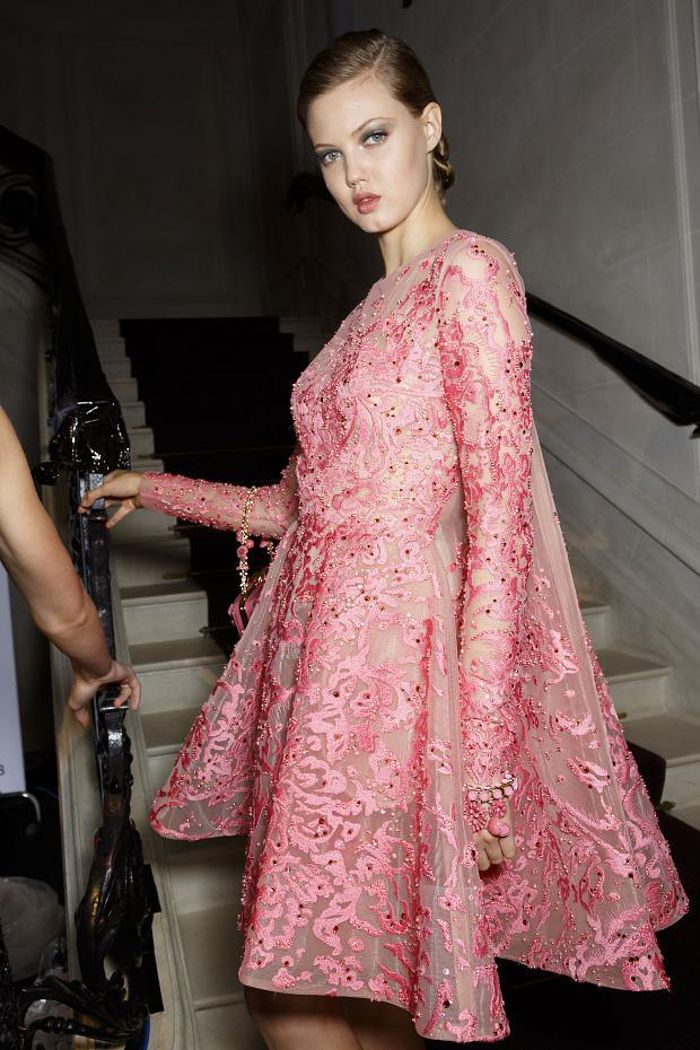 backstage #ElieSaab Couture Fall 2014 | pink | Pinterest | Alta ...
