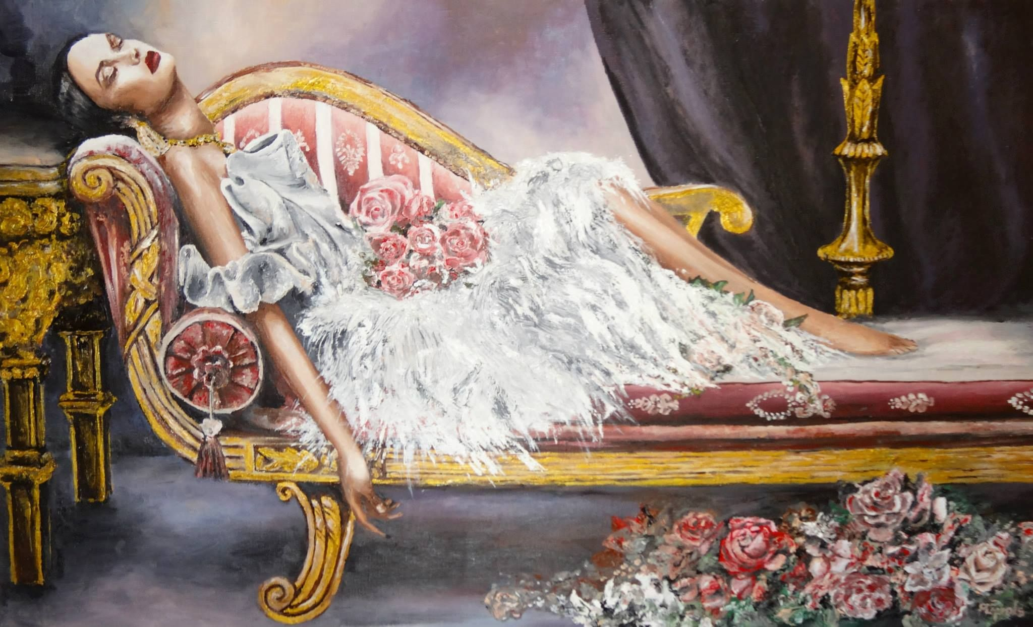 Diva oil painting fashion painting pinterest fashion painting