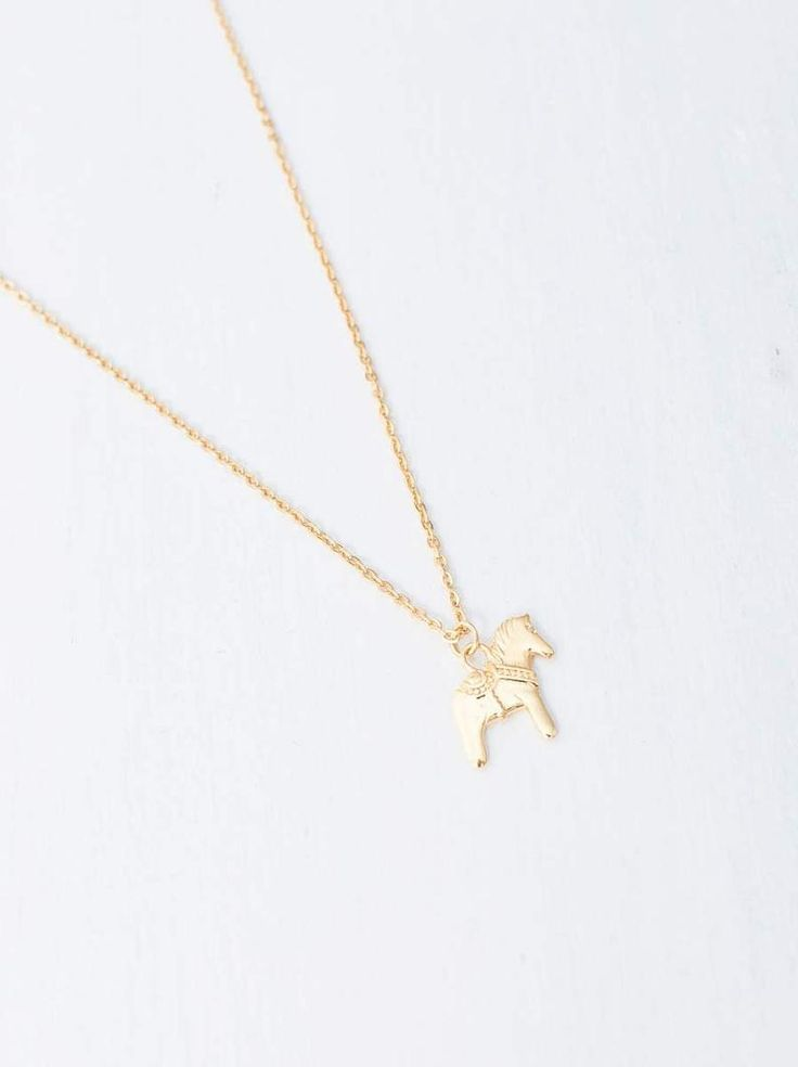 Necklace »Dalapferd«   stainless steel in the colors gold, roségold or silver #uniqueitemsproducts