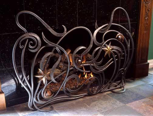 Free Form Art Nouveau Fireplace Guard By Ban Koval Made Metal Productetal