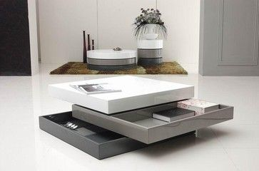 Trio 2 Square Coffee Table Modern Coffee Tables Coffee Table Square Coffee Table Contemporary Coffee Table