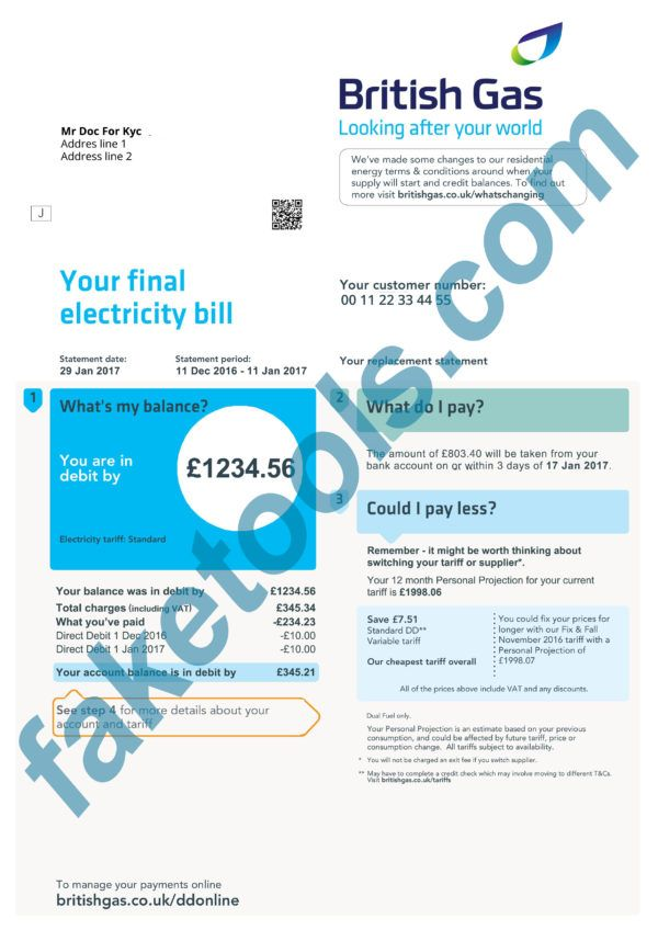 Uk Utility Bill Psd Template Uk Proof Of Address Psd Template In