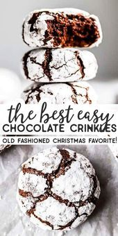 These Chewy Chocolate Crinkle Cookiesare soft and turn out pictureperfect An These Chewy Chocolate Crinkle Cookiesare soft and turn out pictureperfect An