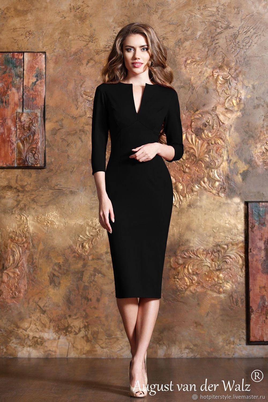 c4830623d94 Платье футляр в чёрной расцветке – купить в интернет-магазине на Ярмарке  Мастеров с доставкой