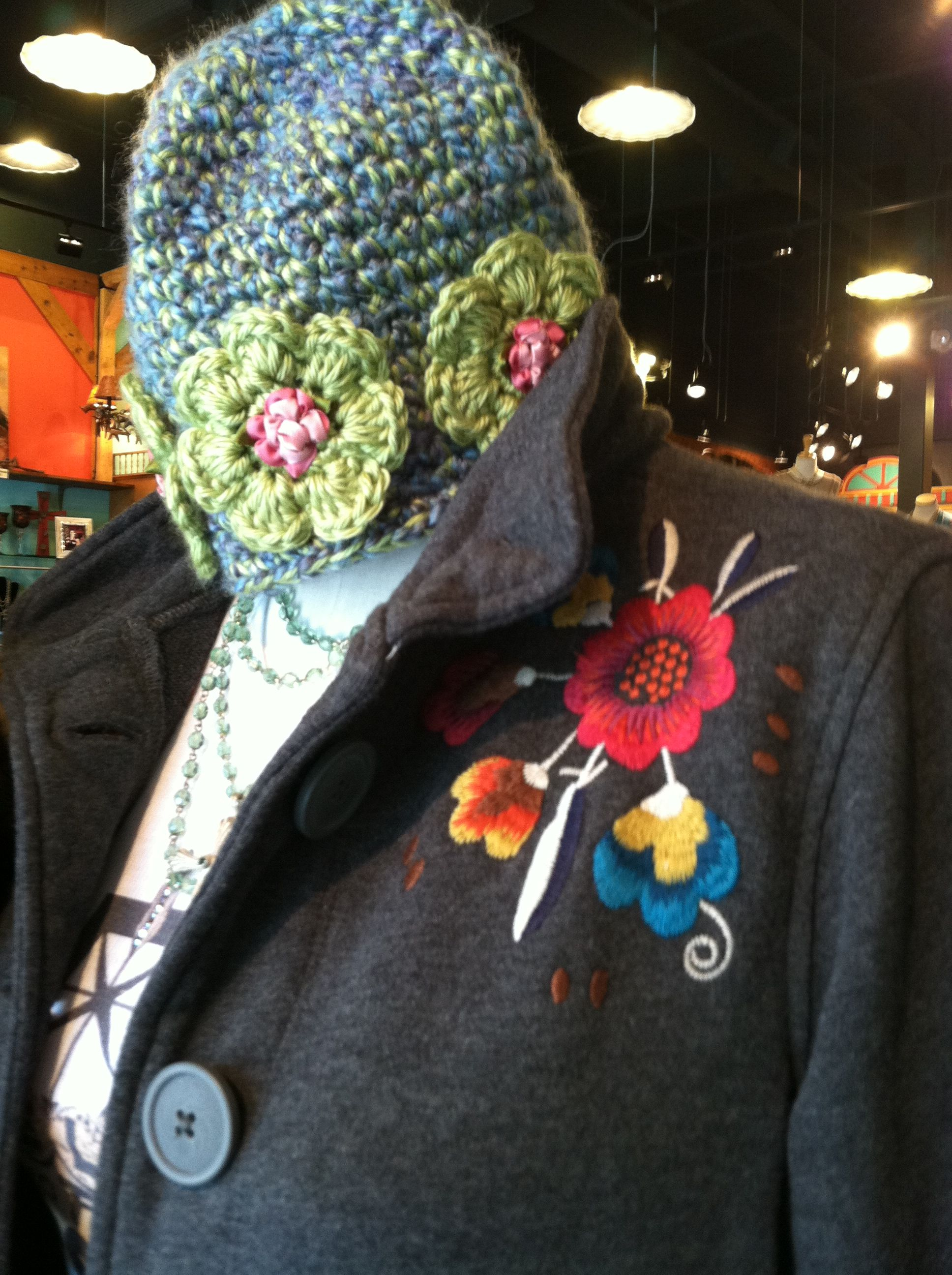 Johnny Was jacket and a hand made crotchet beanie are a perfect match! #DesperadoBend