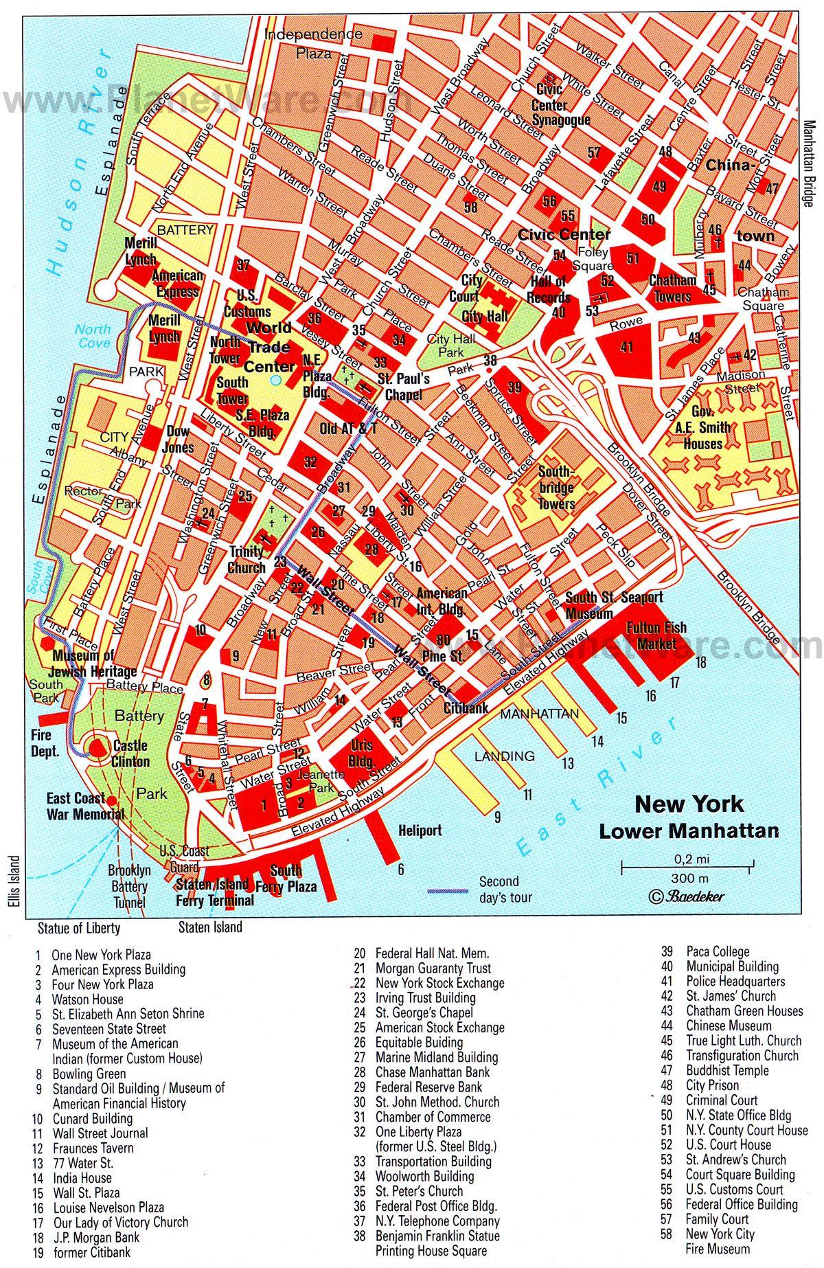 Battery Park City Parking Map Map Of Lower Manhattan - Nyc map lower manhattan