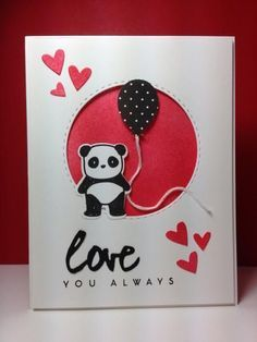 image result for sure do love you stampin up valentines day pinterest panda cards and card ideas - Stampin Up Valentine Card Ideas