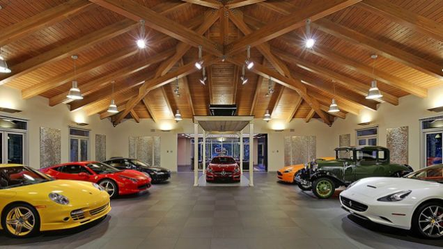 This 4 Million Garage Comes With A Very Nice House Garage House Plans Garage Design Contemporary House Design