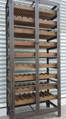 New French Industrial Recycled Vintage Bordeaux Cage Wine Rack 72 Bottles Wine Rack Design Industrial Wine Racks Metal Wine Rack